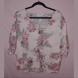 🌸 Lucky Brand Light Floral Blouse 🌸